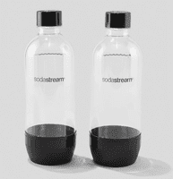 PET flasker Til Sodastream  (2 x 1 L). Sort